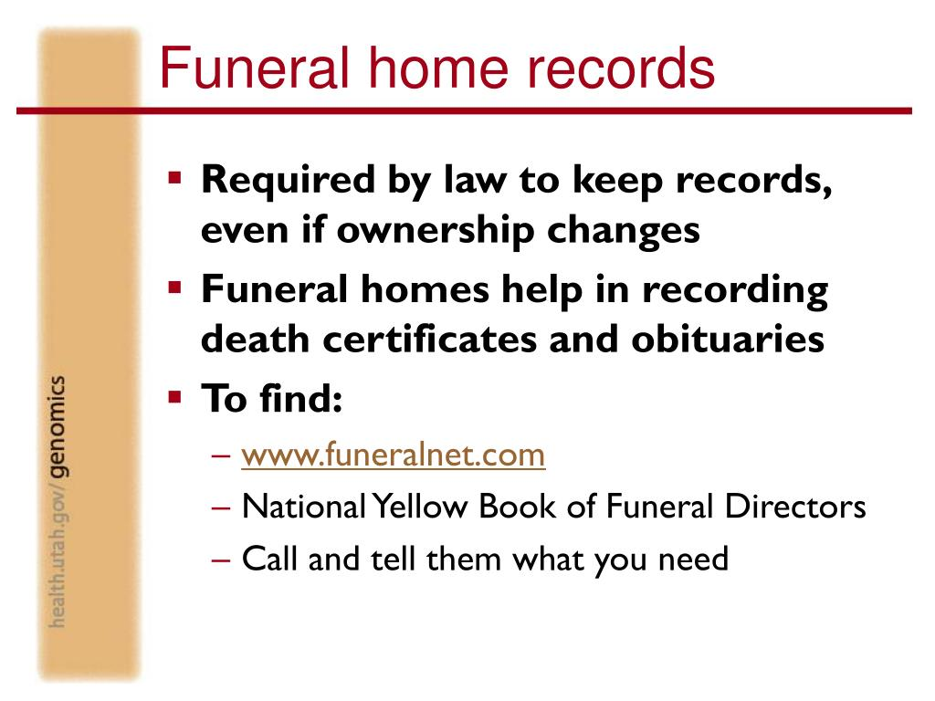 Funeral home records