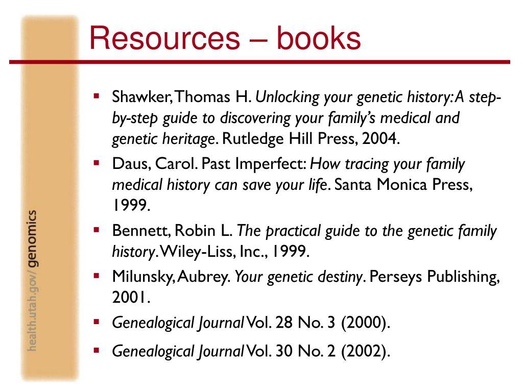 Resources – books