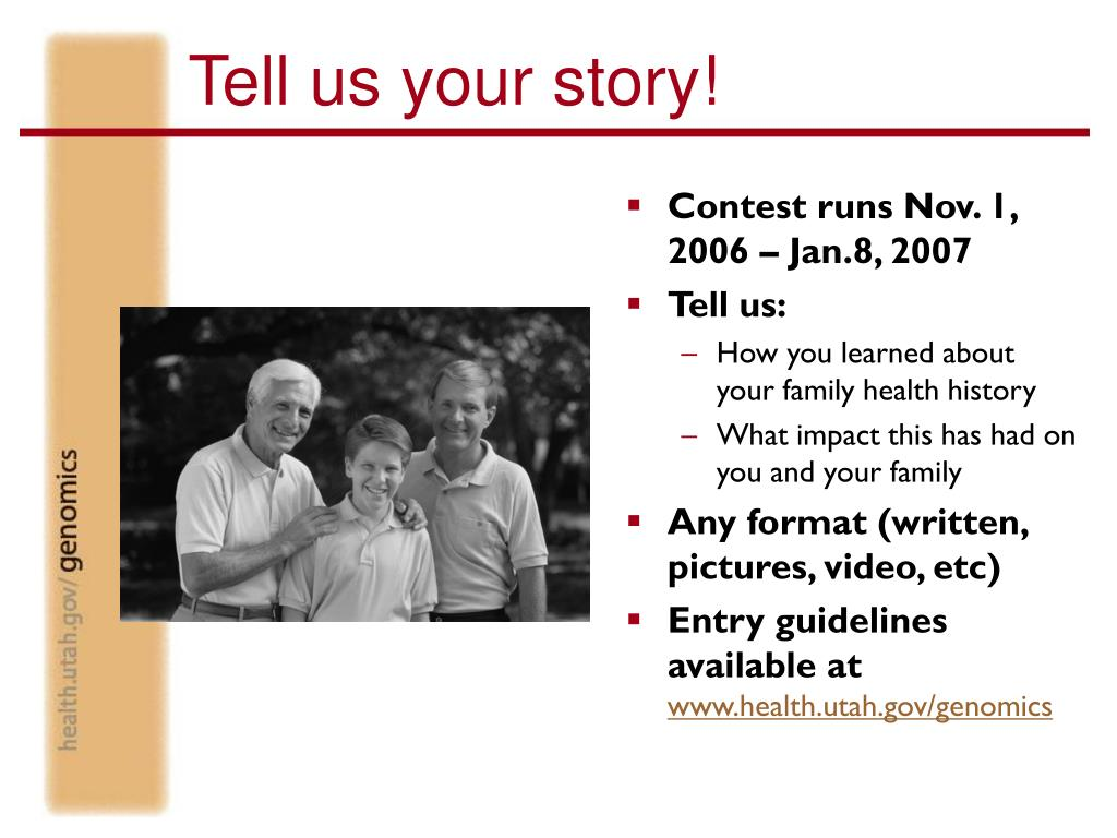 Tell us your story!