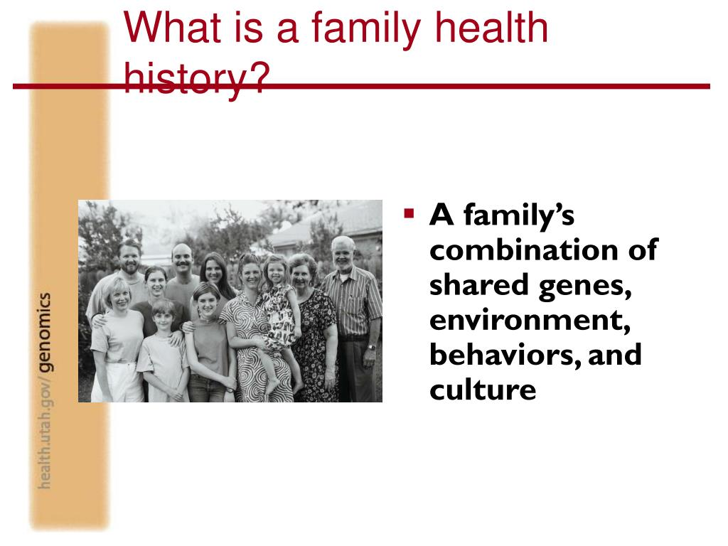 What is a family health history?