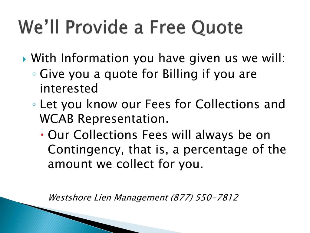 We'll Provide a Free Quote
