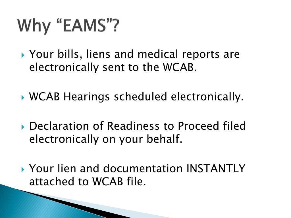 """Why """"EAMS""""?"""