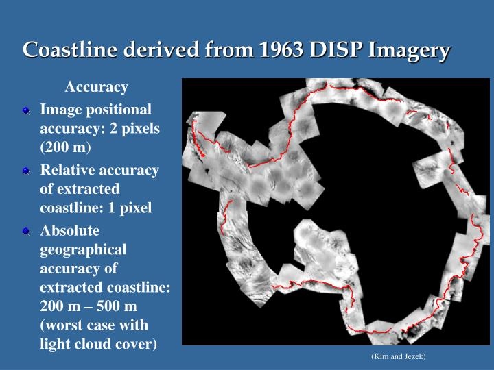Coastline derived from 1963 DISP Imagery