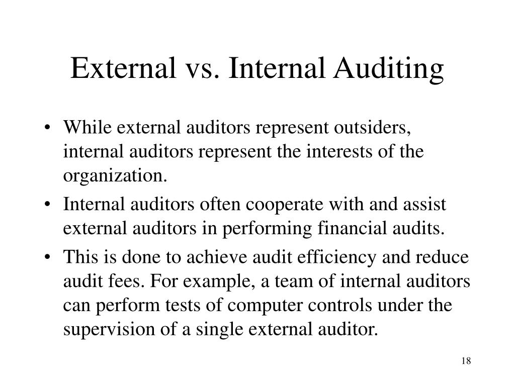 internal control in auditing pdf