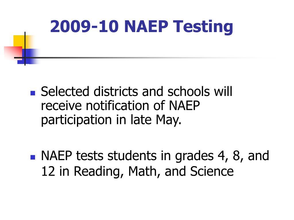 2009-10 NAEP Testing