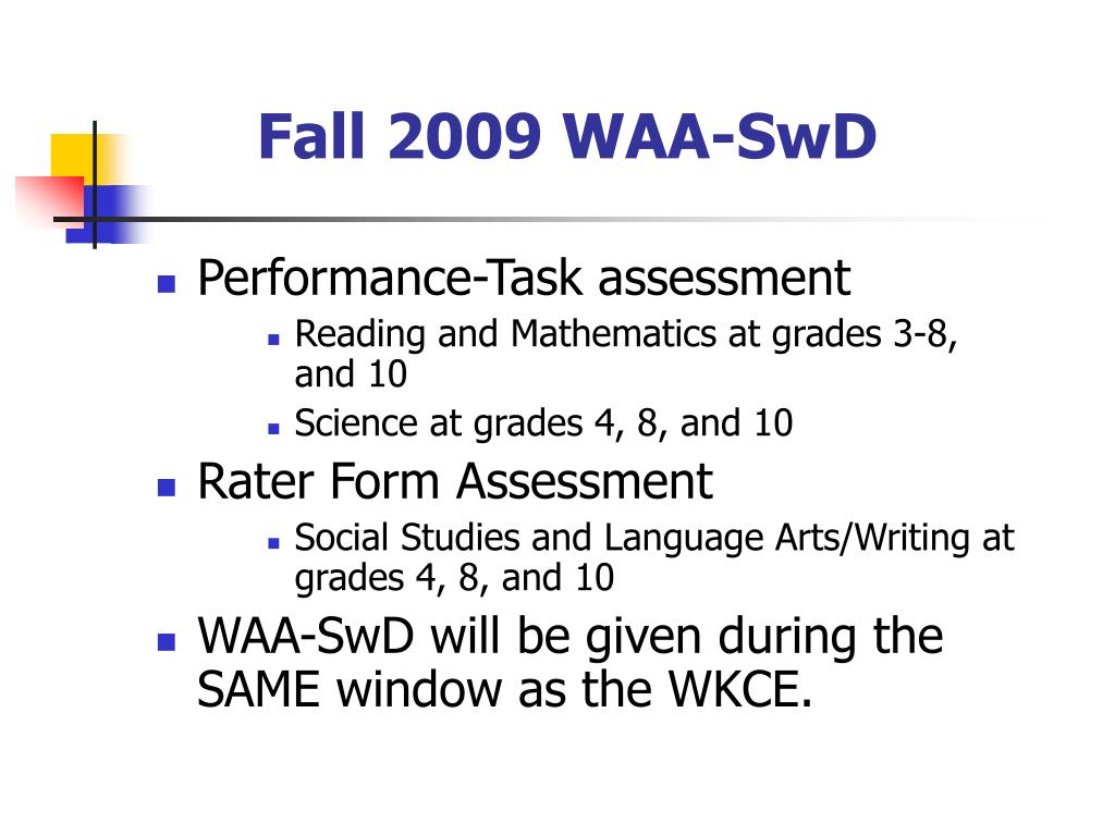 Fall 2009 WAA-SwD