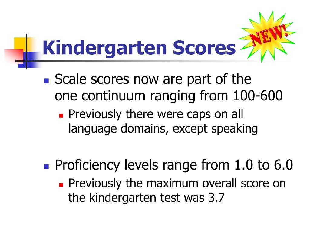 Kindergarten Scores