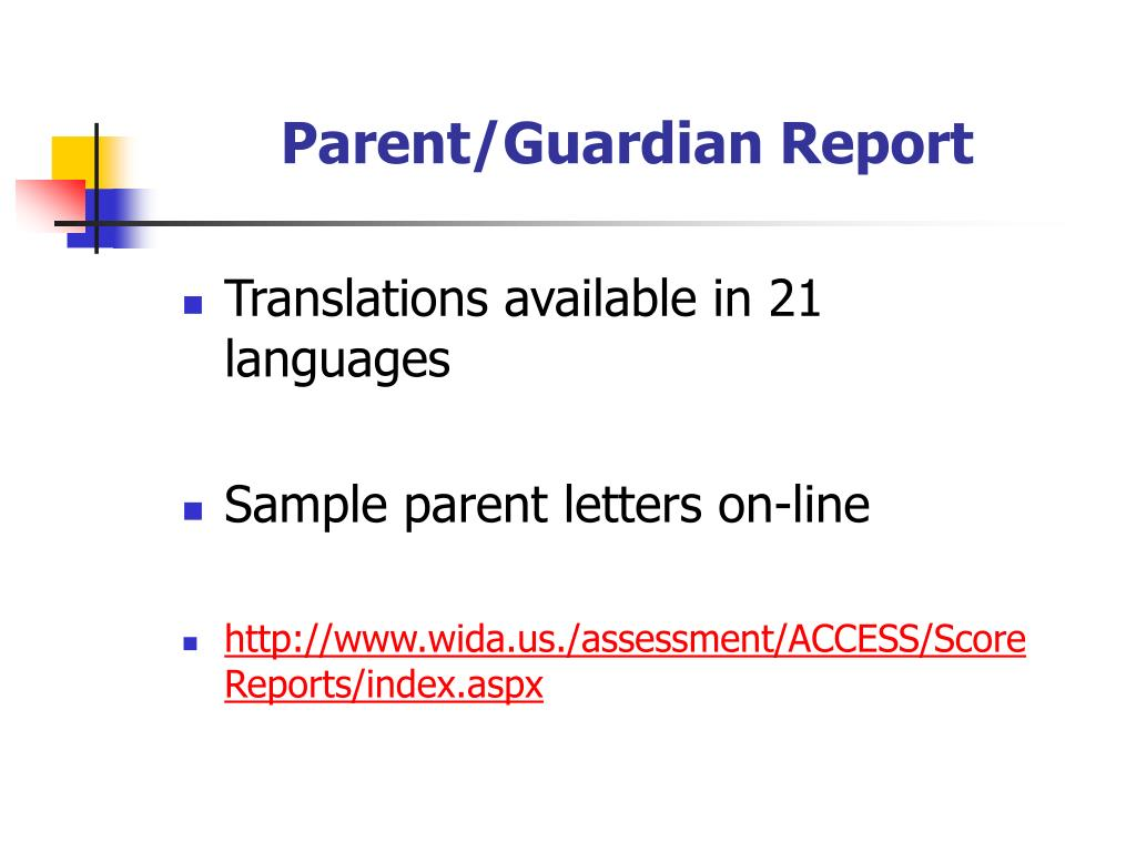 Parent/Guardian Report