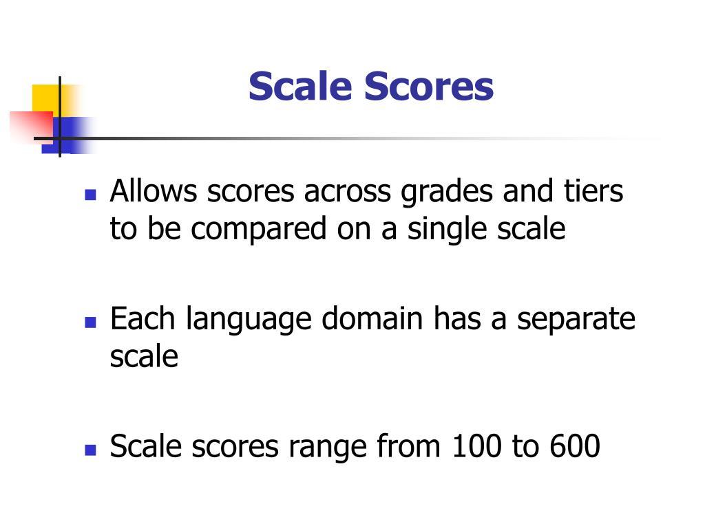 Scale Scores