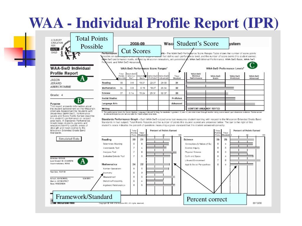 WAA - Individual Profile Report (IPR)