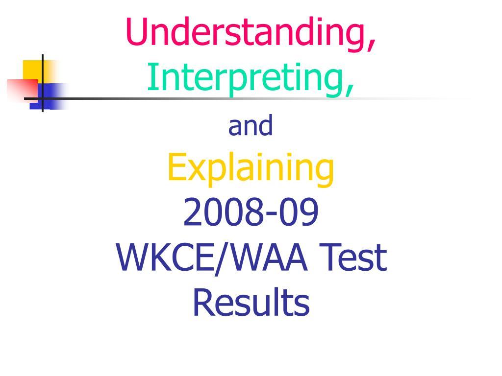 Understanding,