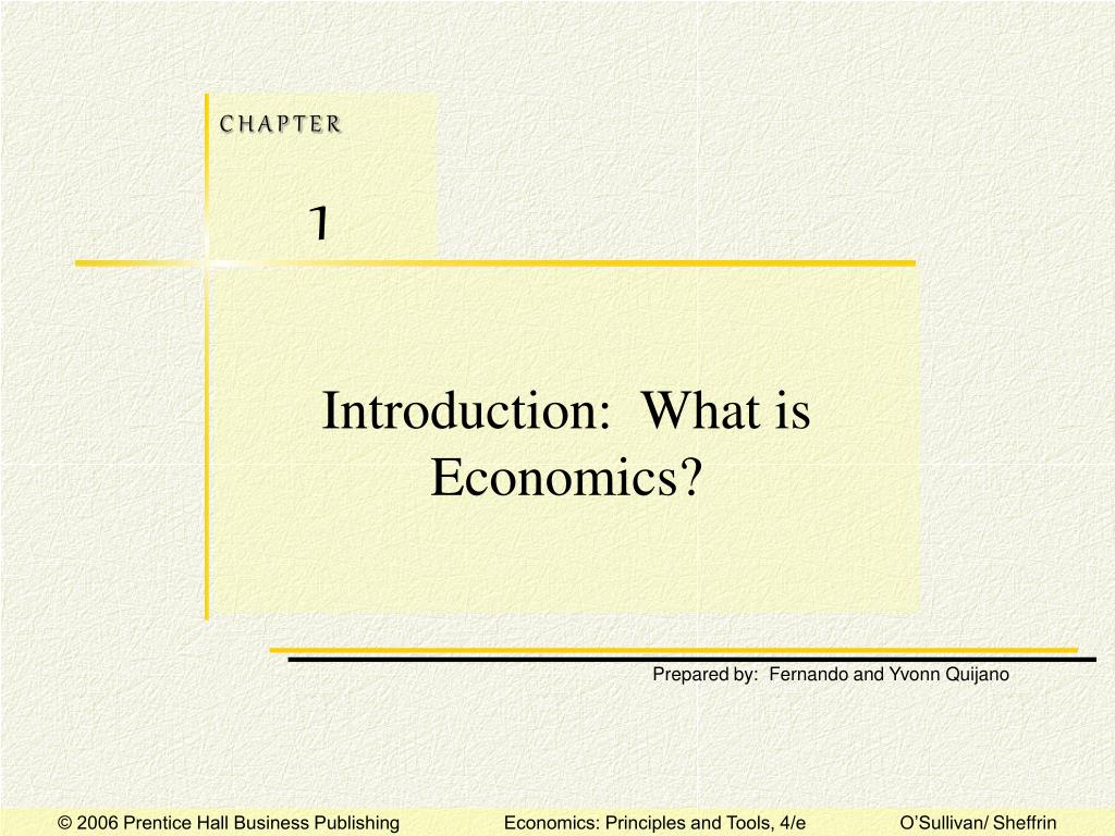 Introduction:  What is Economics?