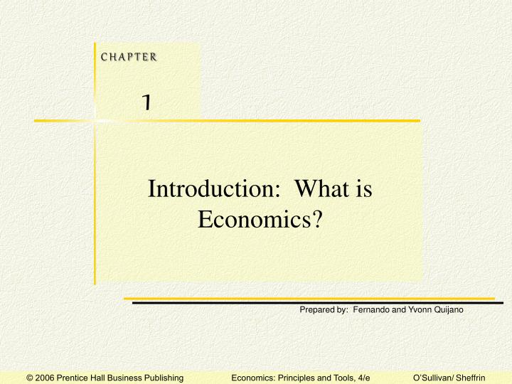 Introduction what is economics