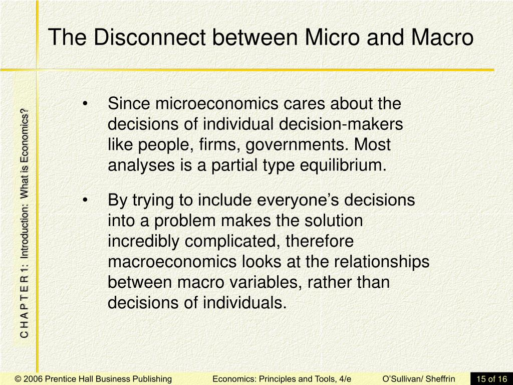 The Disconnect between Micro and Macro