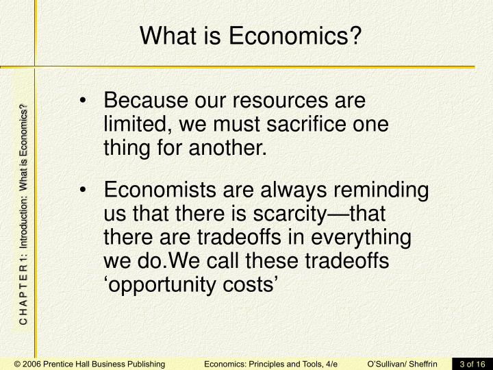 What is economics3