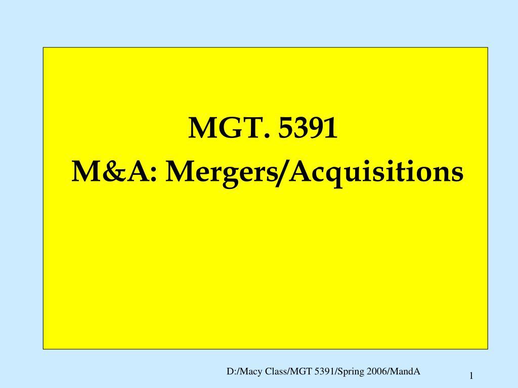 MGT. 5391