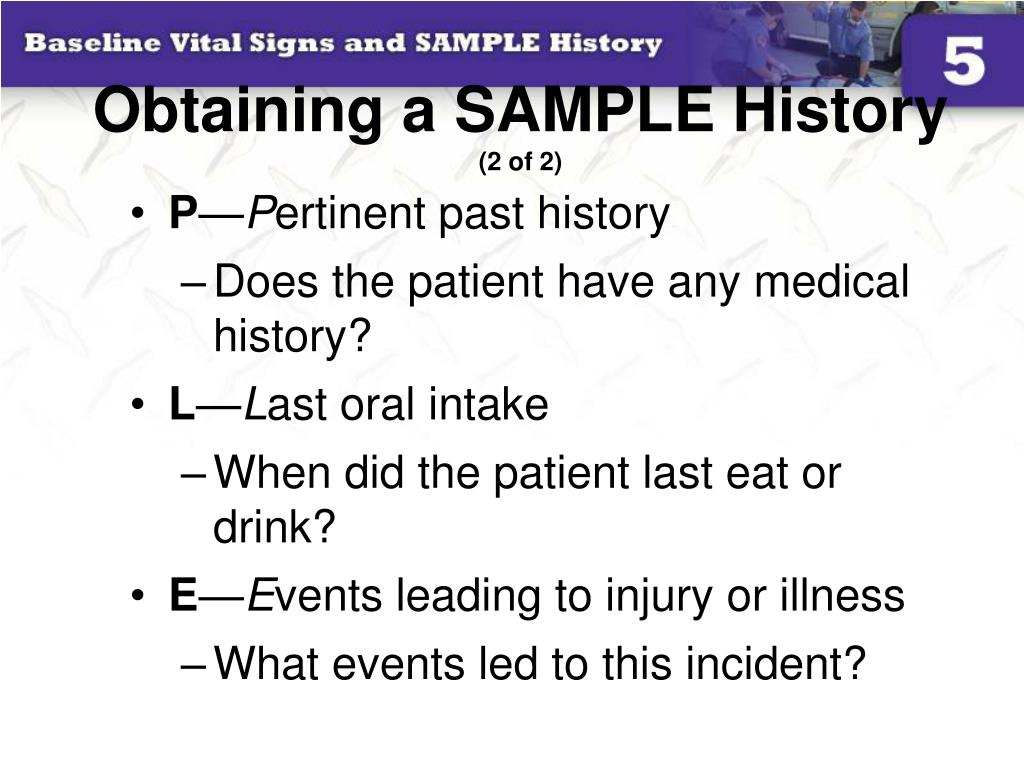 Obtaining a SAMPLE History