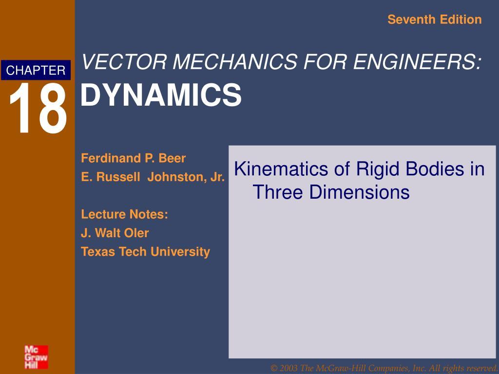 Kinematics of Rigid Bodies in Three Dimensions