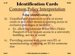 identification cards common policy interpretation28