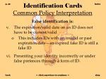 identification cards common policy interpretation29