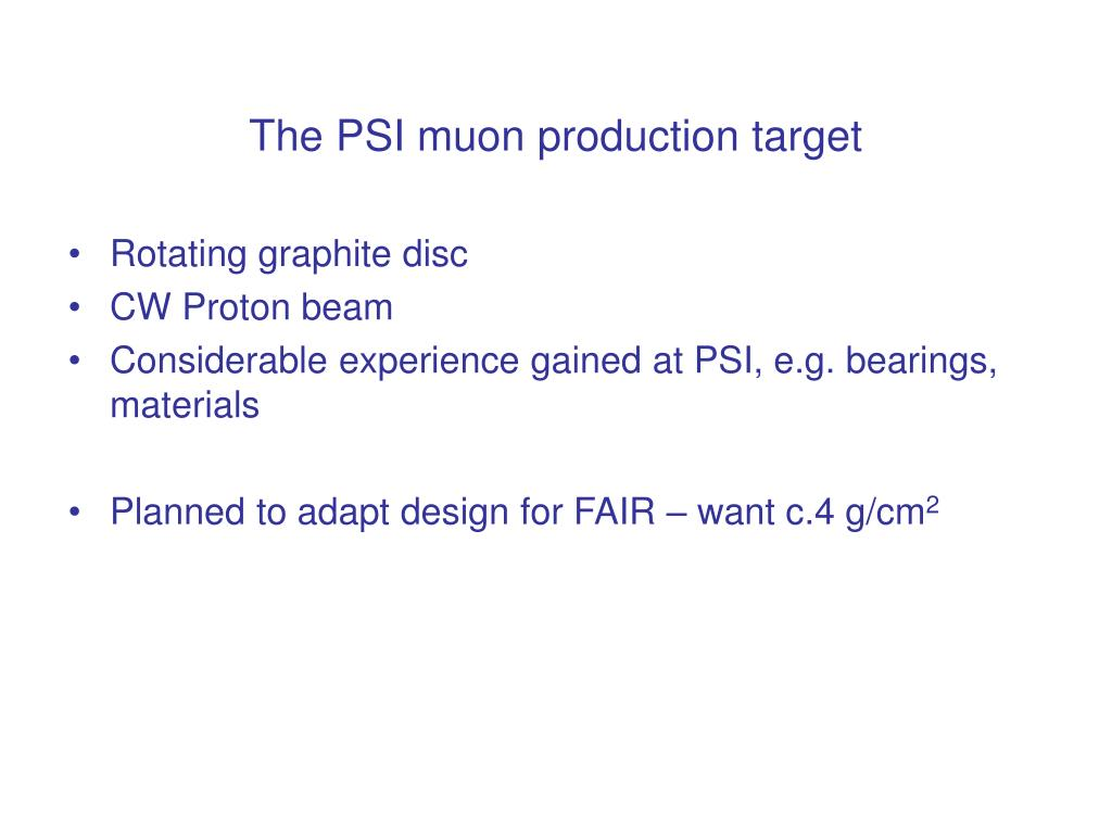 The PSI muon production target