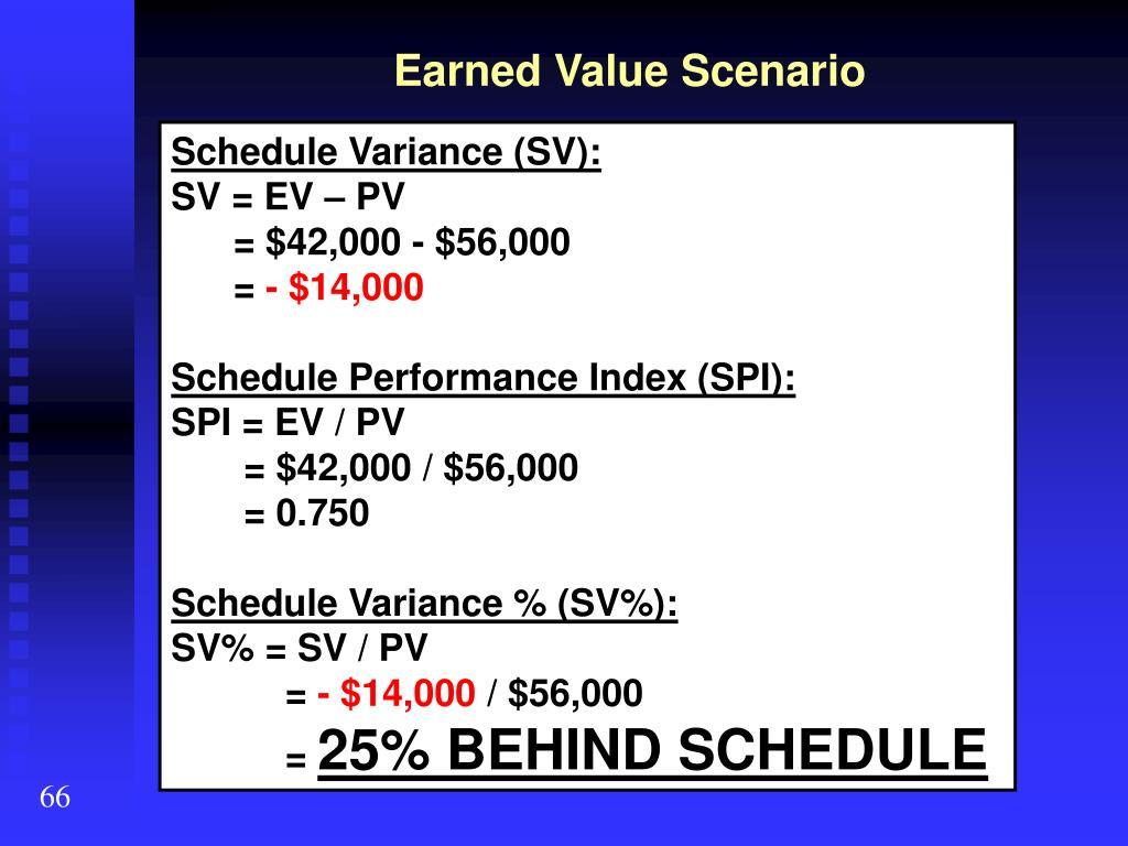 Earned Value Scenario