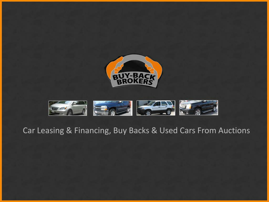 Car Leasing & Financing, Buy Backs & Used Cars From Auctions