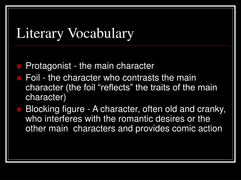 Literary Vocabulary