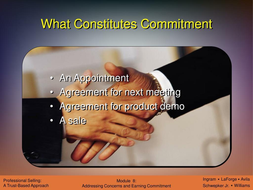 What Constitutes Commitment