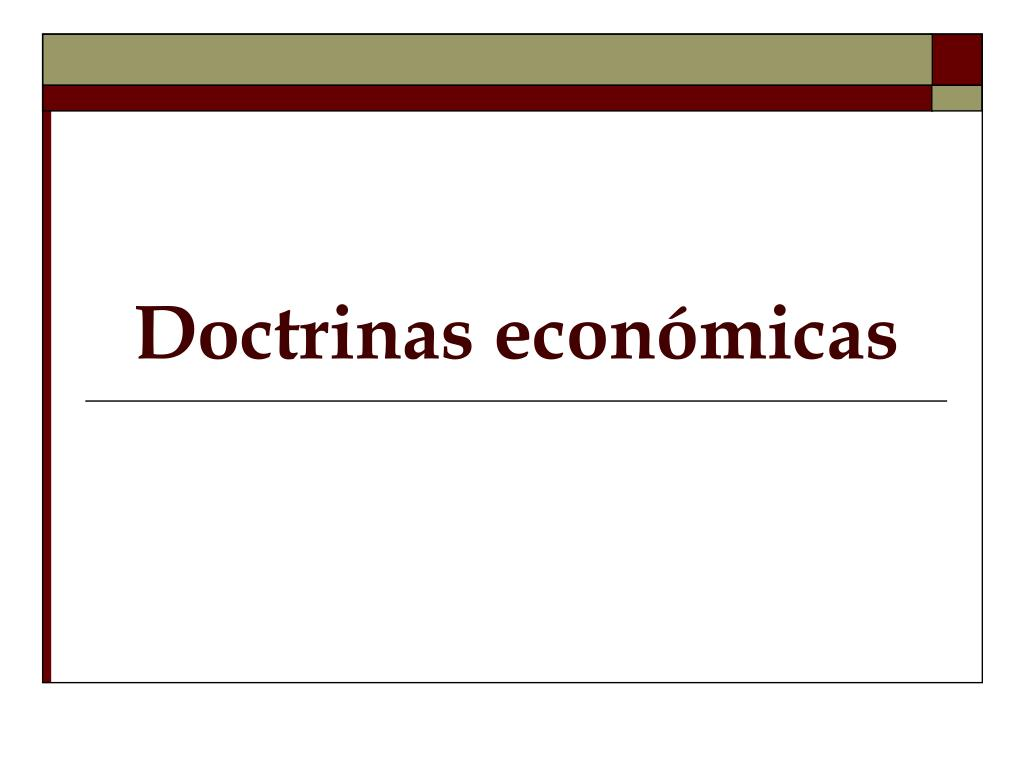 Doctrinas económicas