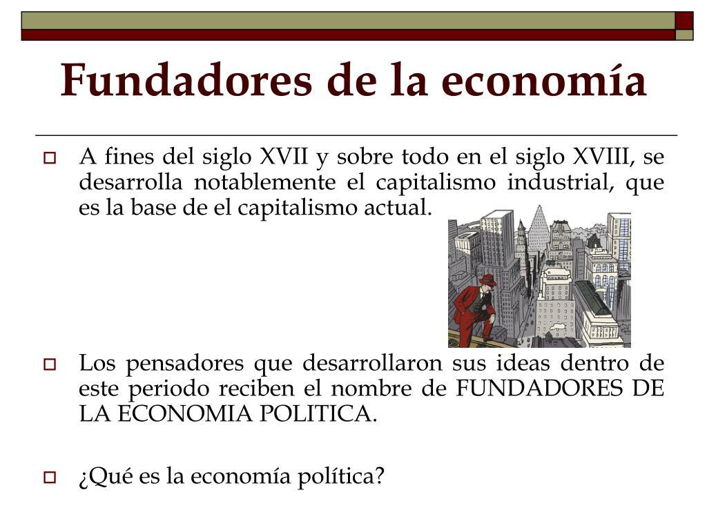 Fundadores de la economía