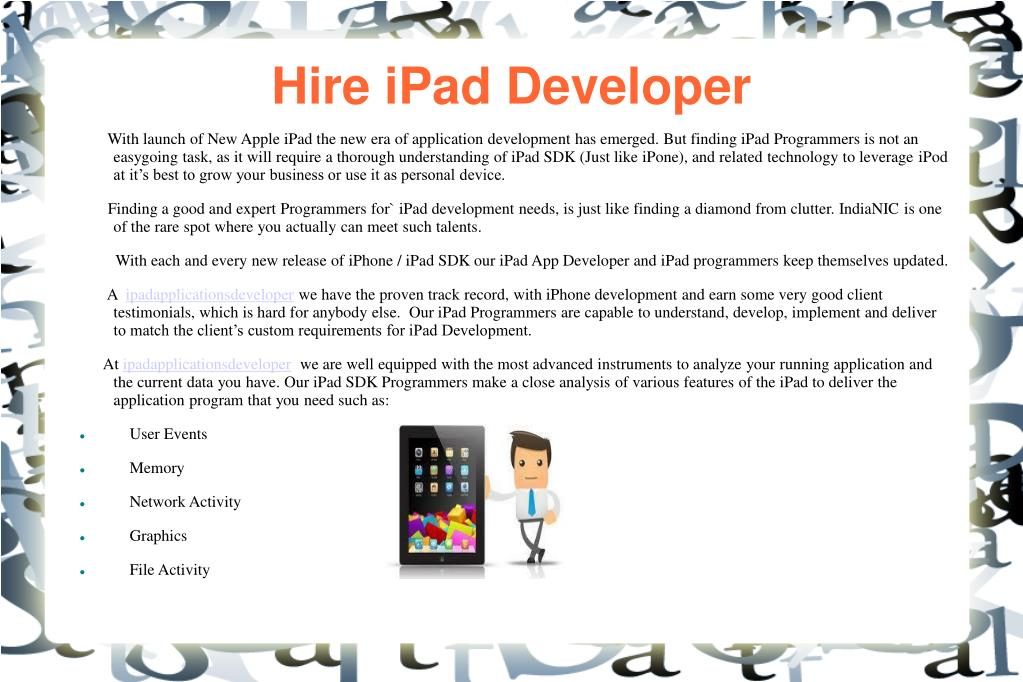 Hire iPad Developer