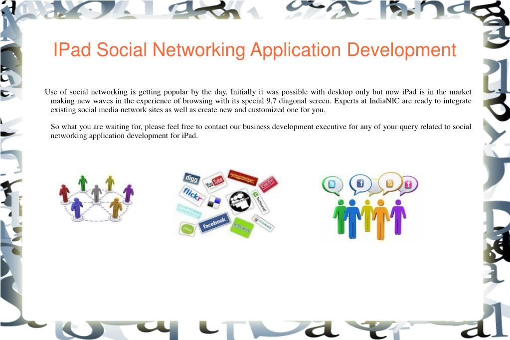 IPad Social Networking Application Development