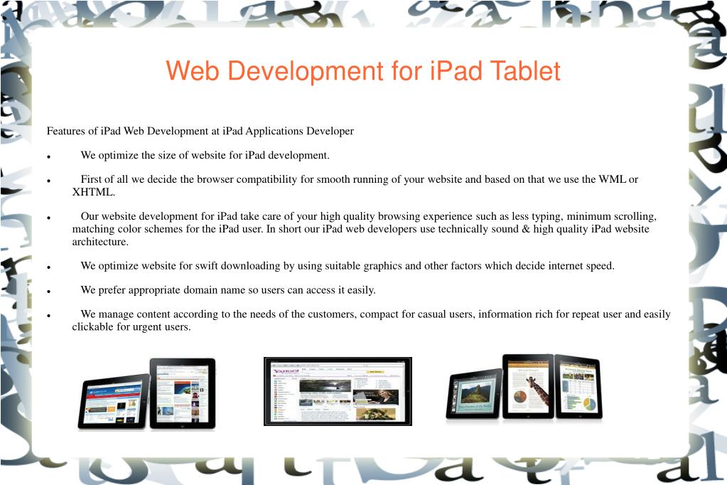 Web Development for iPad Tablet