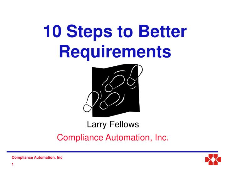 10 steps to better requirements