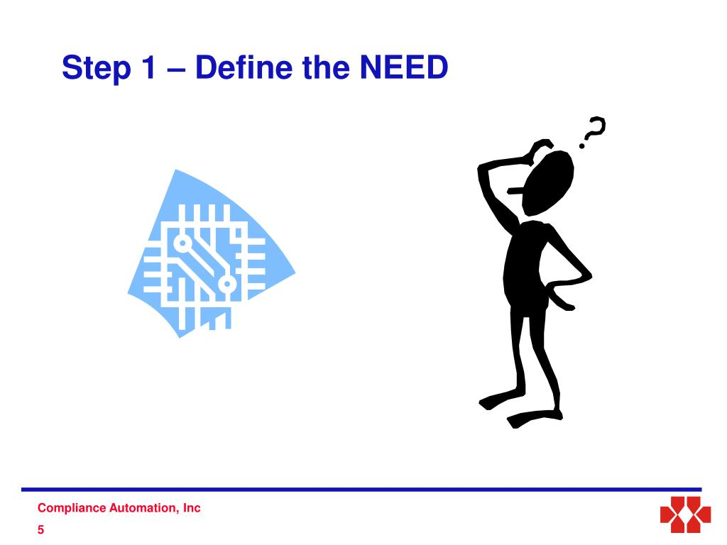 Step 1 – Define the NEED