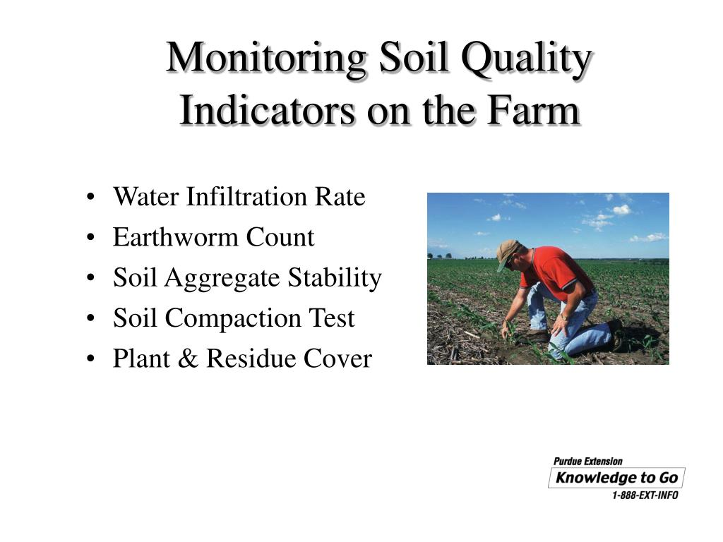 Ppt on farm soil monitoring for water resource for Soil quality indicators