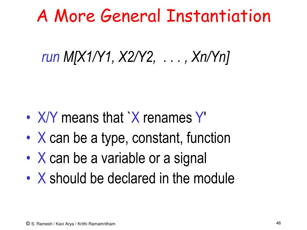A More General Instantiation