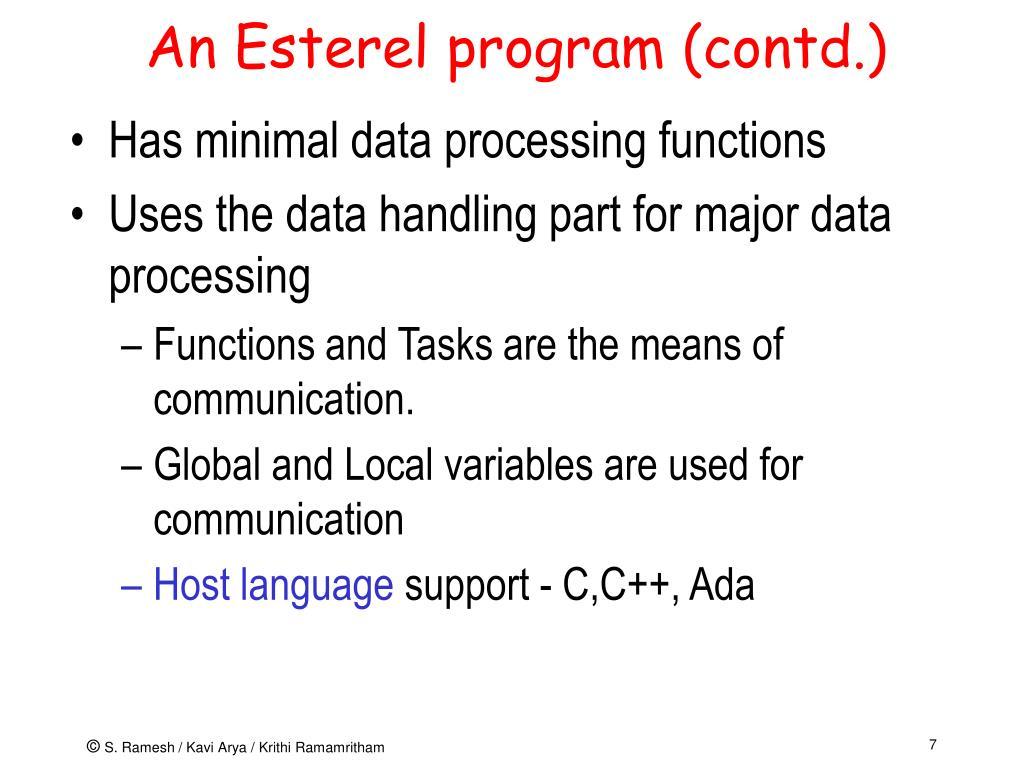 An Esterel program (contd.)