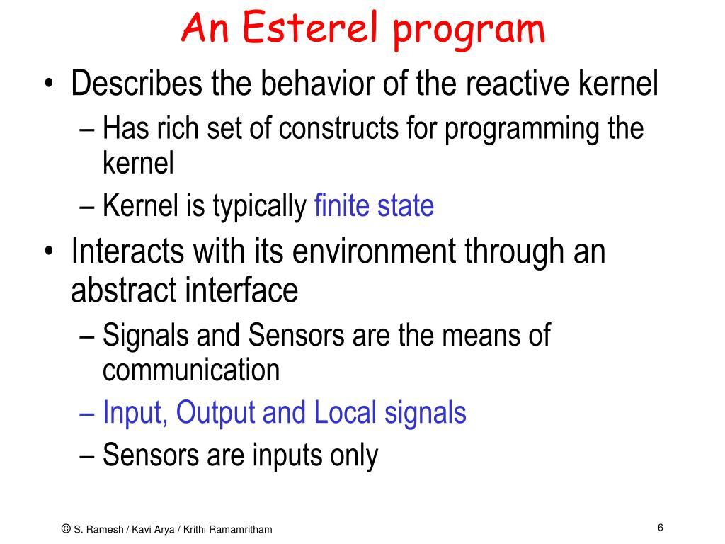 An Esterel program