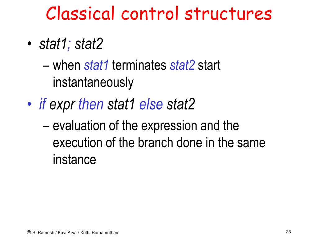 Classical control structures