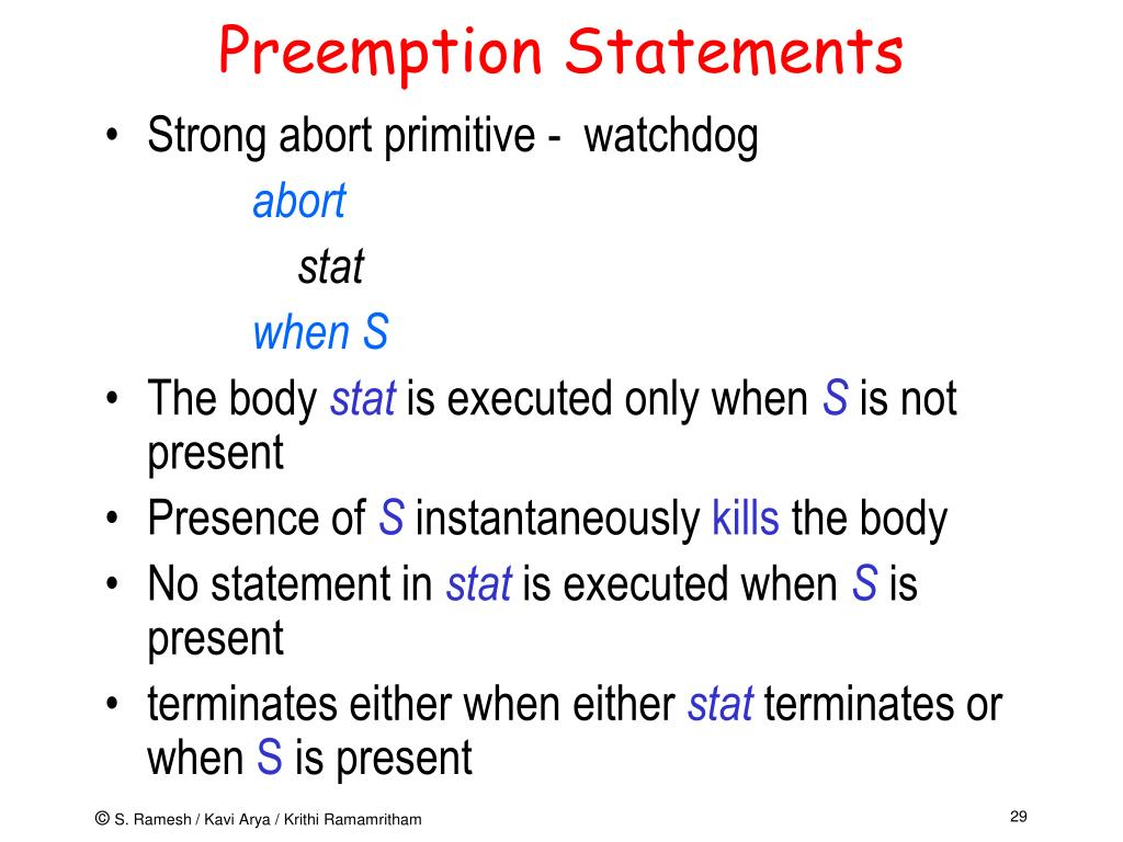 Preemption Statements