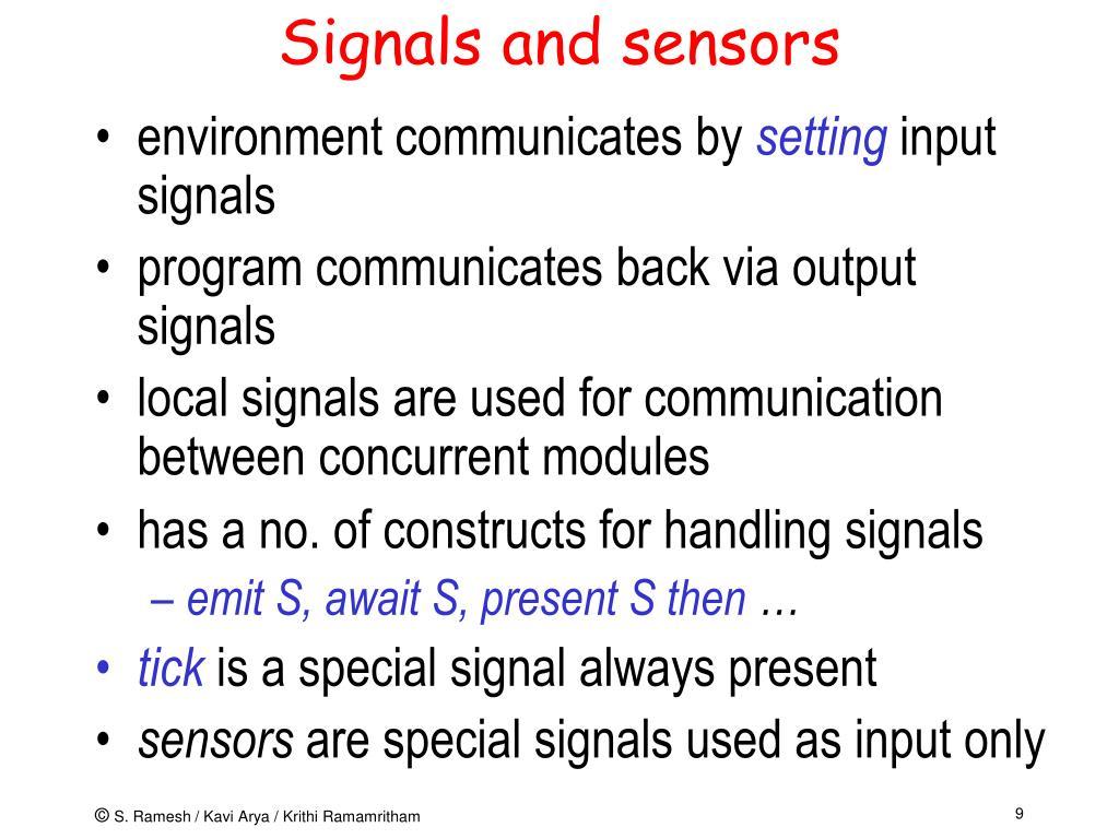 Signals and sensors