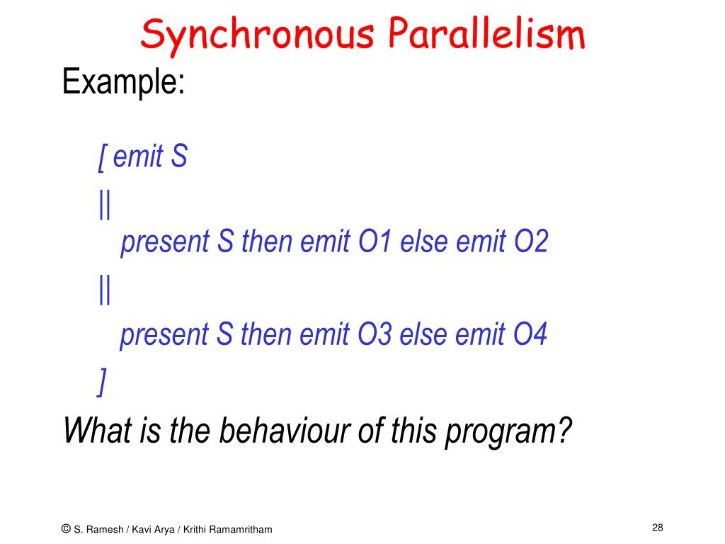Synchronous Parallelism