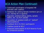 aca action plan continued