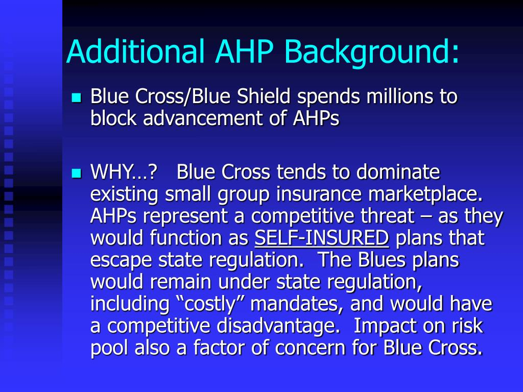Additional AHP Background: