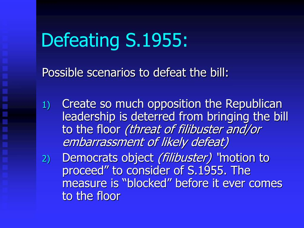 Defeating S.1955: