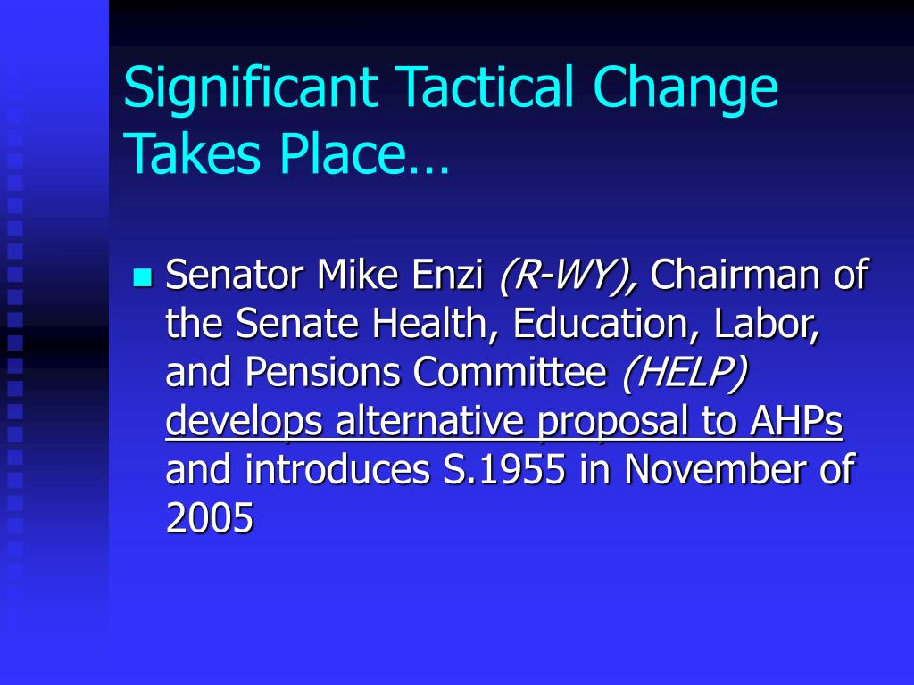 Significant Tactical Change Takes Place…