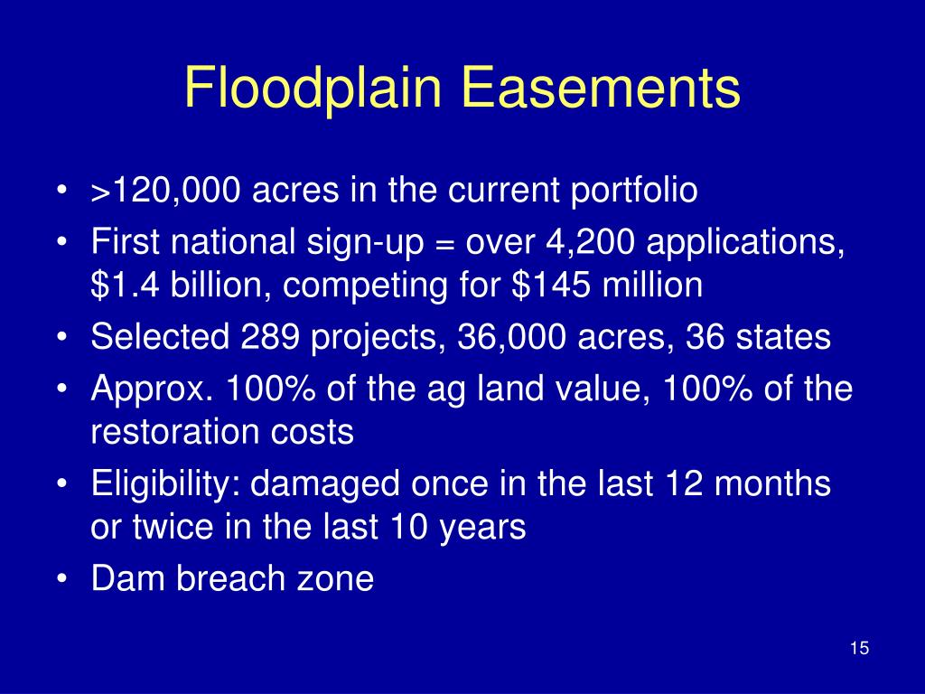 Floodplain Easements