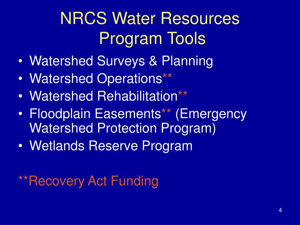 NRCS Water Resources